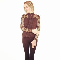 Superbe haut en dentelle  #zonedachat #mode #ootd #tenuedujour #femme #fashion #fashionpost Mode Ootd, Instagram Posts, Collection, Ootd, Fall Winter, Lace, Top