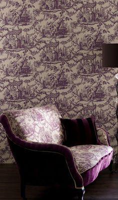 Classic Wallpaper Pattern: Toiles de Jouy. #wallhangings