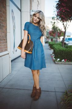 A Denim Dress Thing with Mindy Mae's Market  #mindymaesmarket #dreamcloset