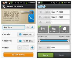 Mobile UI: Search, Sort, Filter