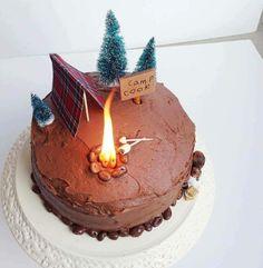 camp / campfire cake