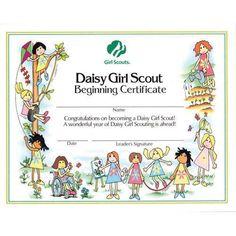 DAISY GIRL SCOUT BEGINNING CERTIFICATE | $ 0.50 each