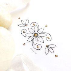 • R U S T I C T A T T O O • #floresdocampo #jewelrydesign #jewelrytattoo #flowertattoo #unalome #unalometattoo #lotustattoo Boho Tattoos, Key Tattoos, Wrist Tattoos, Cute Henna Tattoos, Small Tattoos, Body Art Tattoos, Dragonfly Tattoo, Lotus Tattoo, Tattoo You