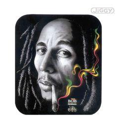 "JiGGy - Bob Marley - Rasta Smoke Decal Bob Marley decal of him smoking a spliff with rasta colored smoke measuring 5"" x 4""."