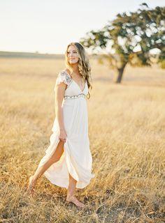 California summer + Jose Villa + evening light + magnificent field with an oak tree = perfect wedding photographs