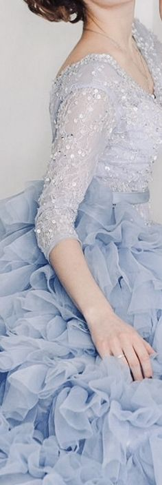 Find images and videos about fashion, beautiful and style on We Heart It - the app to get lost in what you love. Fashion Themes, Fashion Colours, Women's Fashion, Periwinkle Color, Color Blue, Lavender Blue, Gowns Of Elegance, Pantone Color, Beautiful Gowns
