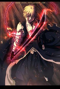 Kurosaki Ichigo - Digital Painting by Gray-Dous Manga Anime, Art Manga, Anime Guys, Anime Art, Shinigami, Bleach Fanart, Bleach Manga, Bleach Characters, Manga Characters