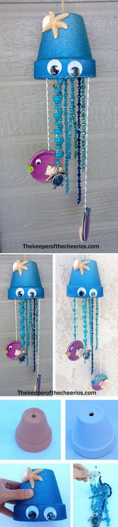 Jellyfish Clay Pot Wind Chime.