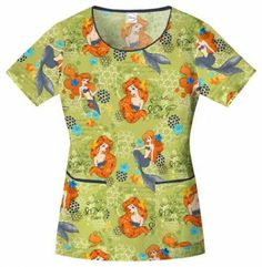 Find Disney Scrubs from Mickey scrub tops to Sleeping Beauty, along with Tinker Bell and Fairy tops. With over 60 different Disney scrubs tops to choose from you are sure to find what you are looking for. Veterinary Scrubs, Medical Scrubs, Nursing Scrubs, Scrubs Outfit, Scrubs Uniform, Disney Scrubs, Cherokee Woman, Cute Scrubs, Disney Inspired Fashion