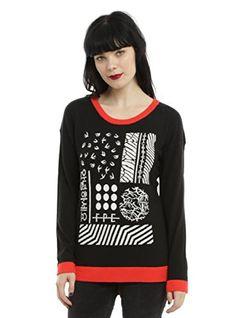2a89186c9014 America Twenty One Pilots Red Trim Girls Sweater