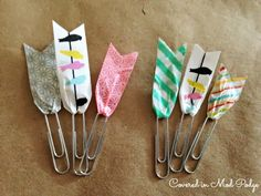 Easy Homemade Crafts: Washi Tape Bookmarks