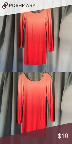 """Mini dress Coral ombré mini dress. 34"""" inches in length from shoulder to hem Forever 21 Dresses Mini"""