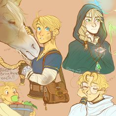I felt like drawing whimsical-looking children today, I suppose. More fantasy AU requested by popular demand, haha. (Alfred is going to starve the entire village this child must be stopped) More fantasy!hetalia stuff: x x