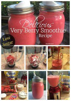 Delicious Very Berry Smoothie Recipe - iSaveA2Z.com  #SweetSwaps
