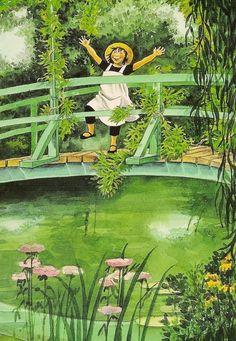 Linnea im Garten des Malers / Illustratorin: Lena Anderson