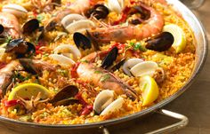 Seafood Paella Paella de Marisco is a summer favorite in Spain for good reason - paella is the perfect base for whatever's tantalizingly fresh from the sea.