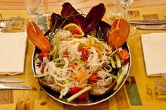 Food: Catalan lobster. La Passera di Mare, fresh seafood restaurant in Florence. http://www.passeradimare.it/
