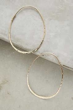 Threaded Hoops - anthropologie.com