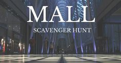 Check out a super fun Mall Scavenger Hunt! #stumin #youthministry #mall #scavengerhunt