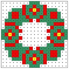 KleuterDigitaal - wb kralenplank kerstkrans