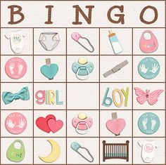 Shower Bingo Card - Kit is My Baby Love by Meagan's Creations.