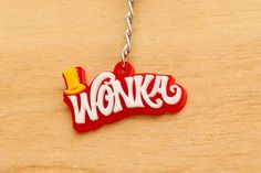 Barra de Wonka llavero acrílico Willy Wonka por SpaceSheepLaser