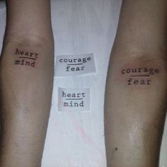 #heart / #mind - #Courage / #fear