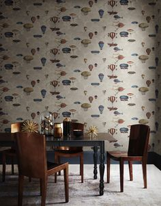 This magical Macchine Volanti Wallpaper by designer Cole & Son forms part of the Fornasetti collection, this magical wallpaper features 'flying machines' which evoke childhood fantasy and adventure.