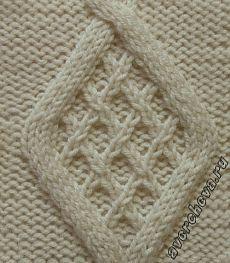 378 diament z siatki    Katalog wzorów dziewiarskich