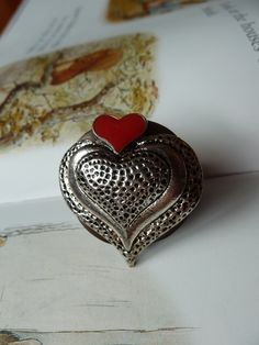 Double heart wooden ring £8.00