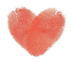 Heart finger prints.. perfect for a gift for a child to their Mommy or Daddy!