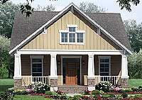 Architectural Designs House Plan 51042MM an open floor plan, centrally located laundry and many amenities found in a larger home. Ideal for a narrow lot, it has 3 beds and 2.5 baths.