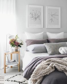 Light grey bedroom decor gray bedroom decor lovely grey bedroom i Light Gray Bedroom, Grey Bedroom Decor, Light Grey Walls, Living Room Decor, Bedroom Ideas, Gray Walls, Cozy Bedroom, Teen Bedroom, Bedroom Furniture
