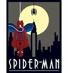 Marvel Comics Spider-Man Deco Canvas Print 30 x 40cm : Main