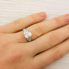 309 Carat Asscher Cut Diamond Art Deco by ErstwhileJewelry on Etsy, $49000.00