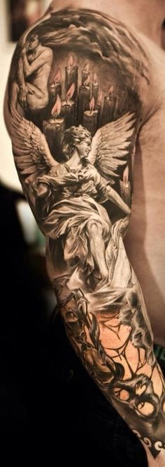 Left side of sleeve