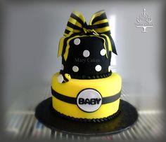 bee theme baby shower cake