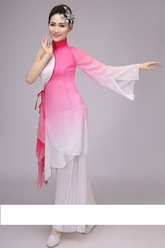 cf0f2c82c US $12.79 8% OFF|traditional chinese dance costumes women sleeve folk dance  costume national costume for woman fan hanfu clothing performance-in Chinese  ...