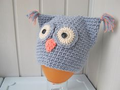 """Children hat, crochet hat, cap """"Owl"""", for a child 5-10 years, a gift for the baby, Knitted clothing for children, ready to ship."""
