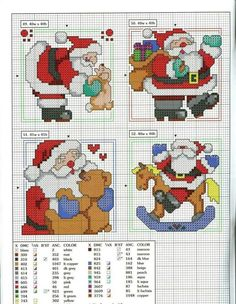 ru / Фото - 101 Ornaments For Christmas - natalytretyak Santa Cross Stitch, Cross Stitch Cards, Cross Stitching, Cross Stitch Embroidery, Cross Stitch Christmas Ornaments, Christmas Embroidery, Christmas Cross, Cross Stitch Designs, Cross Stitch Patterns