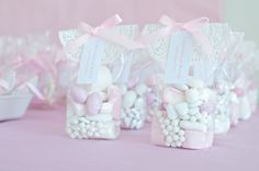 Pink and white doilies party