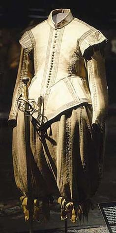 Clothing of Gustav Adolf, from 1620 is in property of Livrustkammaren, Stockoholm