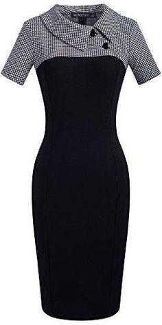 - Homeyee Frauen Retro Chic Colorblock Revers Karriere Tunika Kleid – # - Source by moda Trendy Dresses, Elegant Dresses, Vintage Dresses, Nice Dresses, Dresses For Work, Retro Chic, Patchwork Dress, Classy Dress, Chic Dress