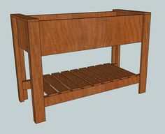 Ana White- Raised Planter Box, make sure you read the comments there is a change in cut and assembling.