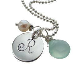 Elegant Initial Necklace with Charms | Hip Mom Jewelry