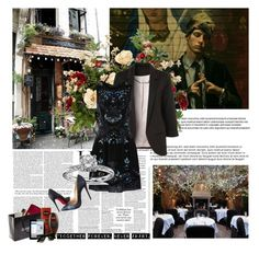 """""""265. Machine Gun Kelly"""" by staycloudyornah ❤ liked on Polyvore featuring Needle & Thread, Blue Nile, Christian Louboutin, Chanel and Fake Bake"""