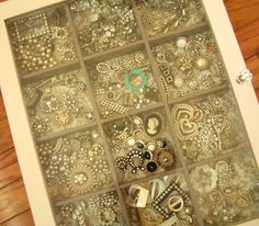 JEWELS CASES       FIND WITH COMPARTMENTS AND FINISH WITH FRAMES AND DOOR PULLS