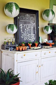 """""""Rooted in Love"""" Garden Themed Bridal Shower with terra-cotta pot decor, infused water, butterfly accents, yellow plates, lemon & thyme cookies and more!"""