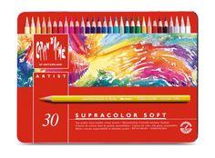 Caran d'Ache Supracolor aquarelpotloden - 30 stuks in metalen etui, 49 euro