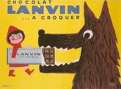Vintage Chocolate ad - adorable.